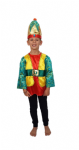 GREEN AND GOLD KING WISE MAN FANCY DRESS COSTUME